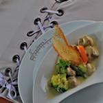 Blanquette de foie gras aux légumes